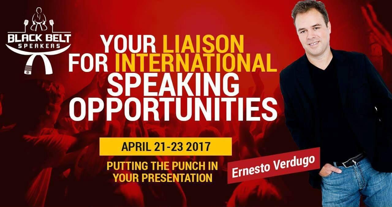 Ernesto Verdugo in Speaking Opportunities