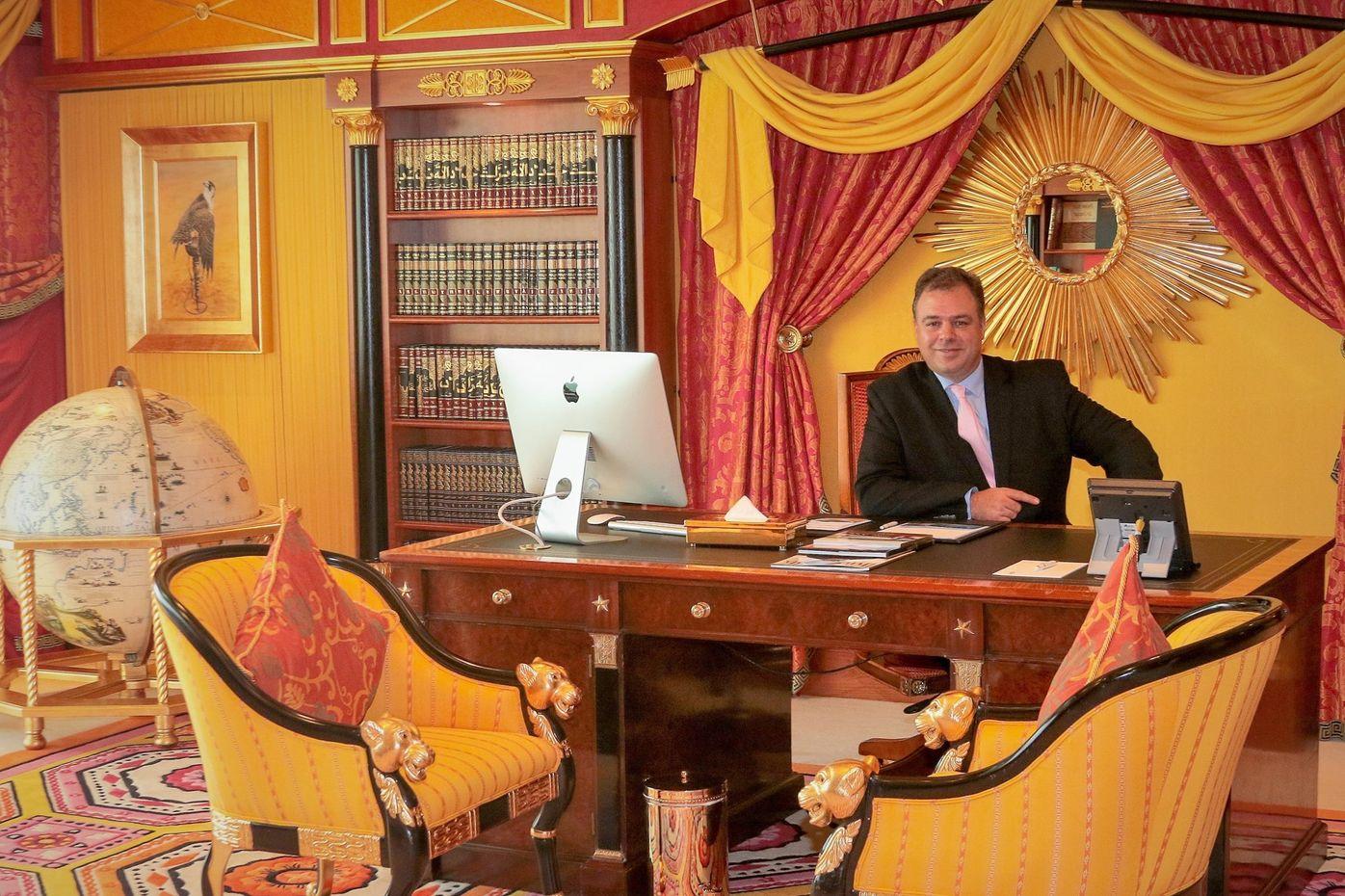 Ernesto verdugo in his Office