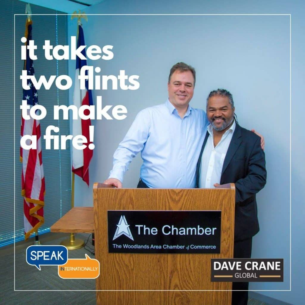 Ernesto Verdugo with Dave Crane in Woodlands Chamber of Commerce