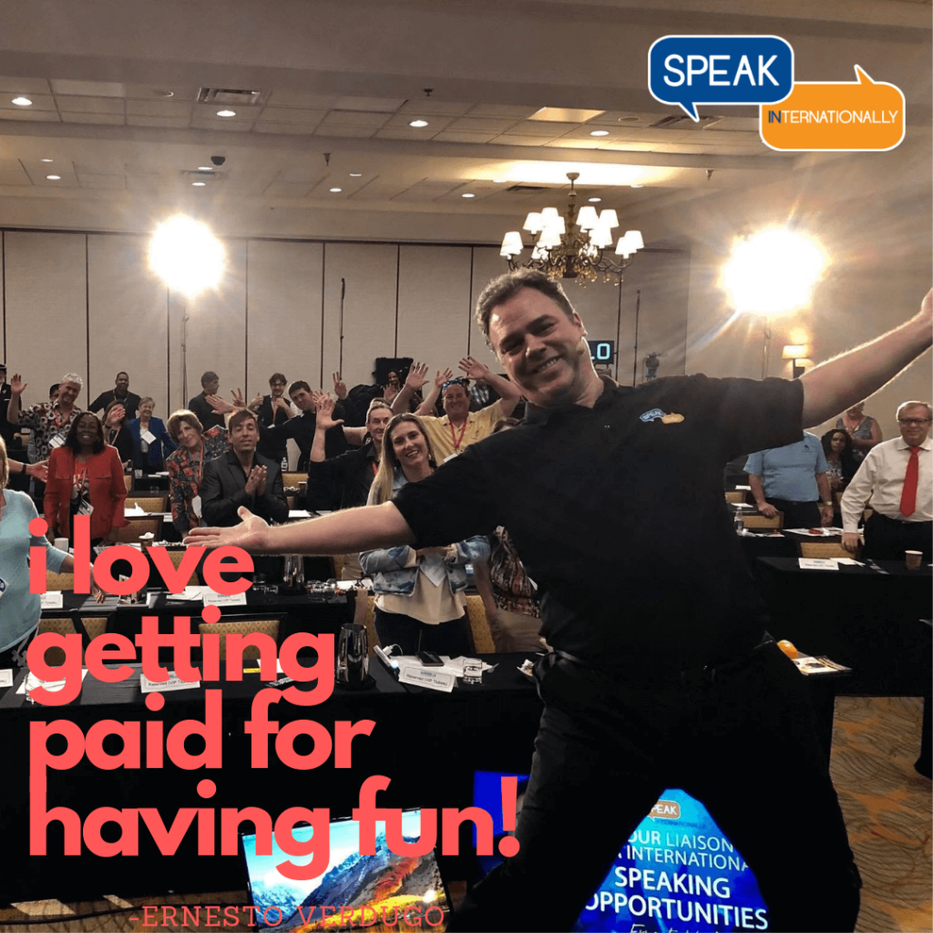 Ernesto Verdugo on: Are you getting paid to have fun?