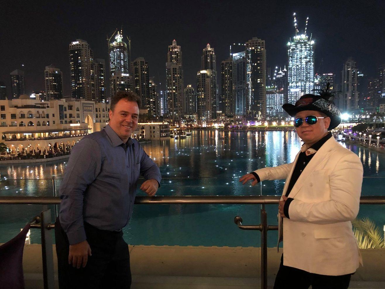 Ernesto Verdugo and Chris Okazaki in Dubai