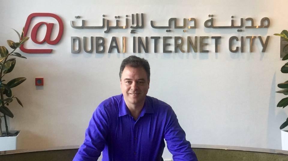 Ernesto Verdugo at Dubai Internet City