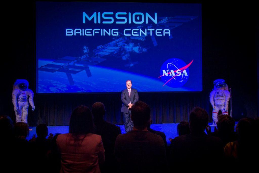 Ernesto Verdugo speaks in NASA